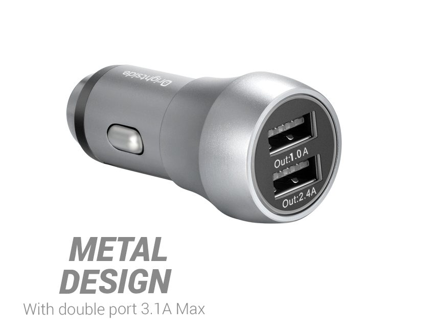 Car-charger-2-ports-design
