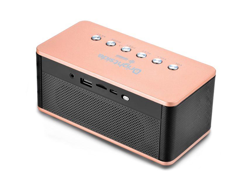 Bluetooth-clock-speaker-rose-back
