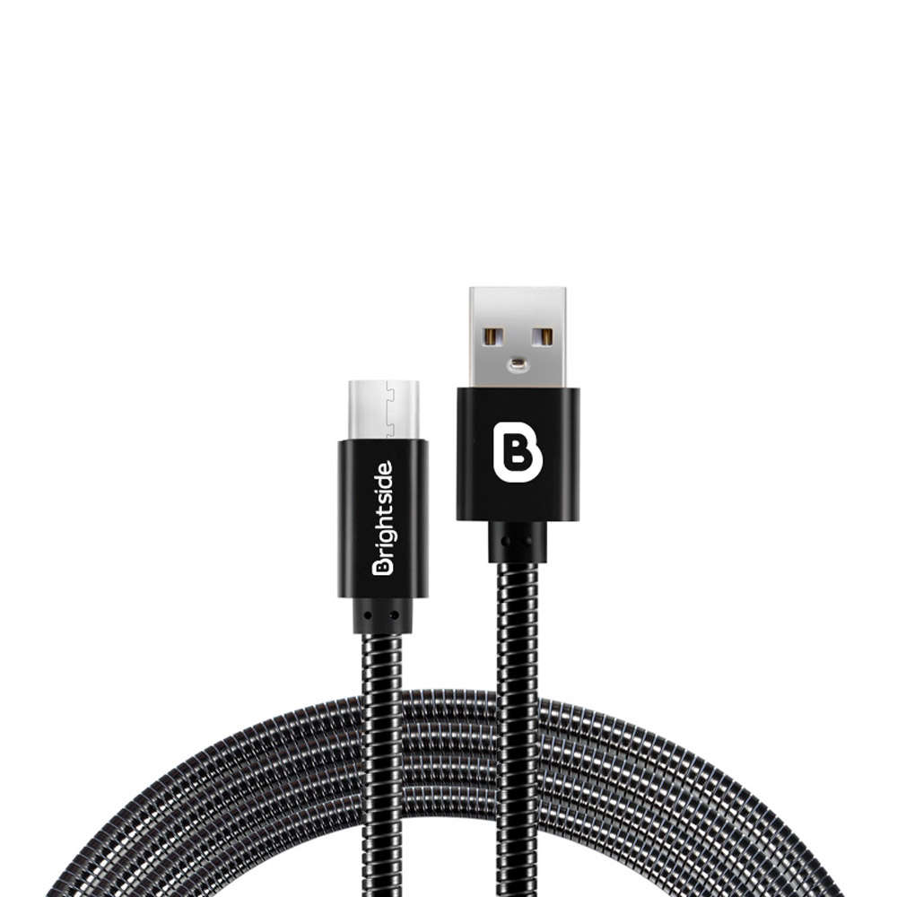 TypeL-nylon-data-charging-cable-black