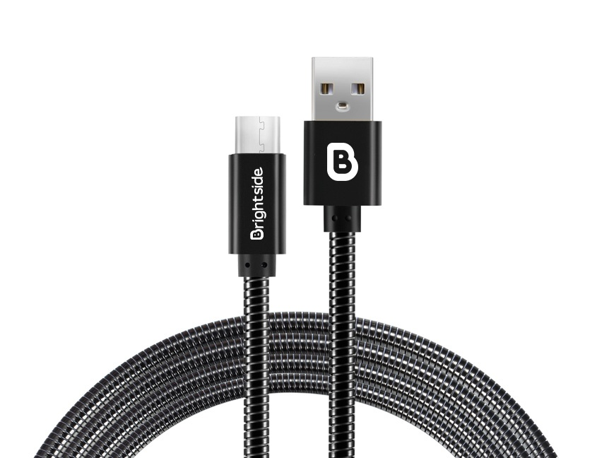 Metal-data-charging-cable-black