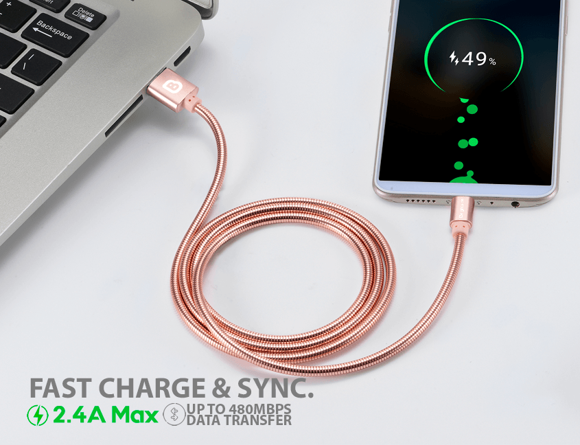 Metal-data-charging-cable-rose-devices
