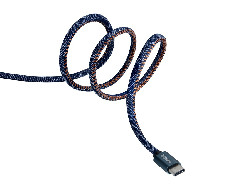 Nylon-jean-data-charging-cable