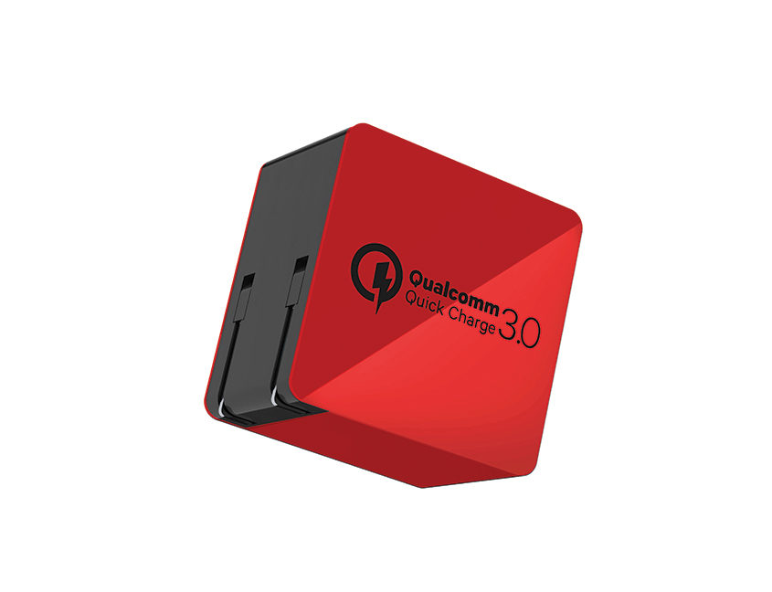 Wall-charger-quick-charge-3.0-red