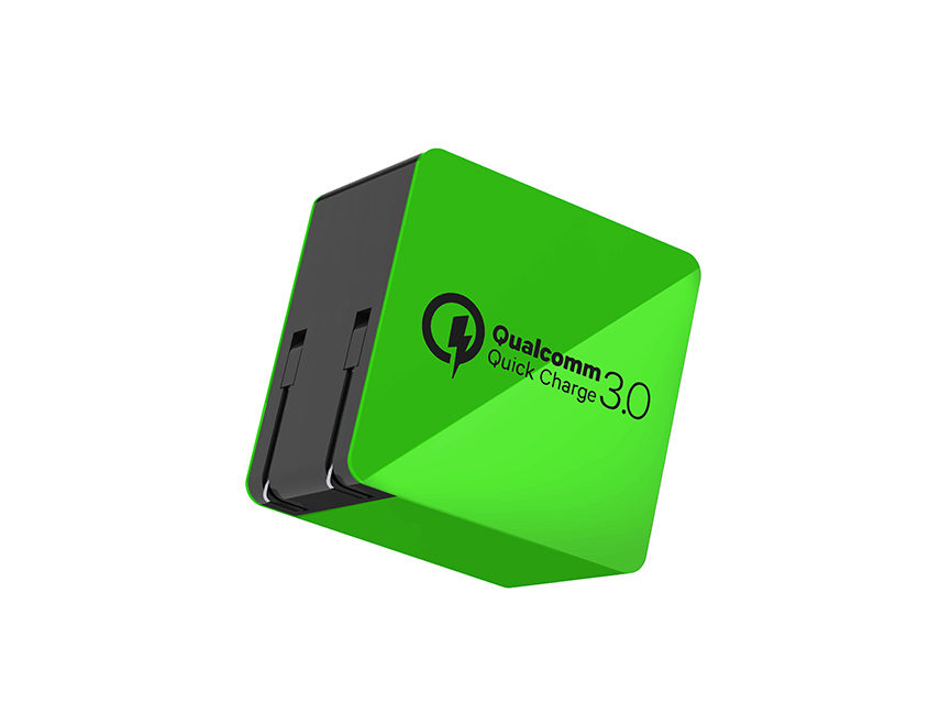Wall-charger-quick-charge-3.0-green